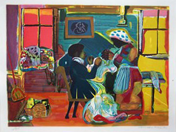 Quilting Time 1981 Limited Edition Print by Romare Bearden