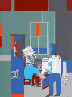 Carolina Blue (Interior) 1970 Limited Edition Print by Romare Bearden
