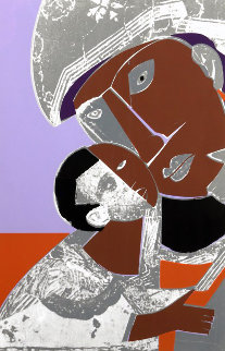 Mother And Child 1974 Limited Edition Print by Romare Bearden