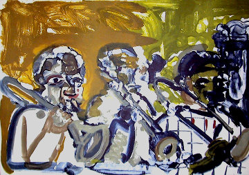 Brass Section (From the Jazz Series) 1979 Limited Edition Print by Romare Bearden