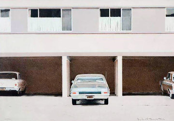 Three Cars 68 Nova 1972 Limited Edition Print - Robert Bechtle