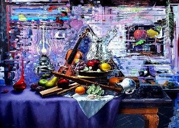 History of Art 2000 46x54 Huge  Original Painting - Charles Becker