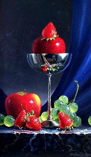 Strawberry Sundae 1999 22x18 Original Painting - Charles Becker