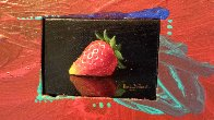 Sensual Strawberry 2010 8x11 Original Painting by Charles Becker - 1
