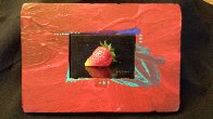 Sensual Strawberry 2010 8x11 Original Painting by Charles Becker - 2