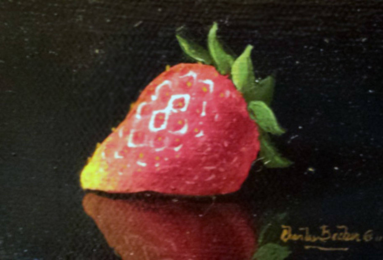 Sensual Strawberry 2010 8x11 Original Painting by Charles Becker