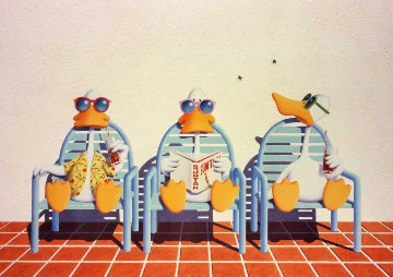 Sitting Ducks 1977 Limited Edition Print - Michael Bedard