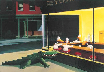 Window Shopping 1988 Limited Edition Print - Michael Bedard
