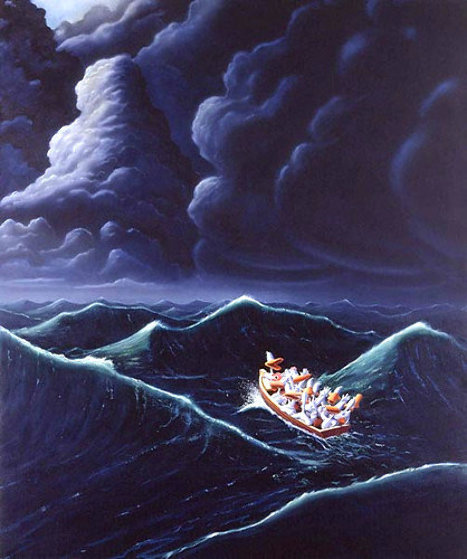 Ship of Fools 1990 Limited Edition Print by Michael Bedard