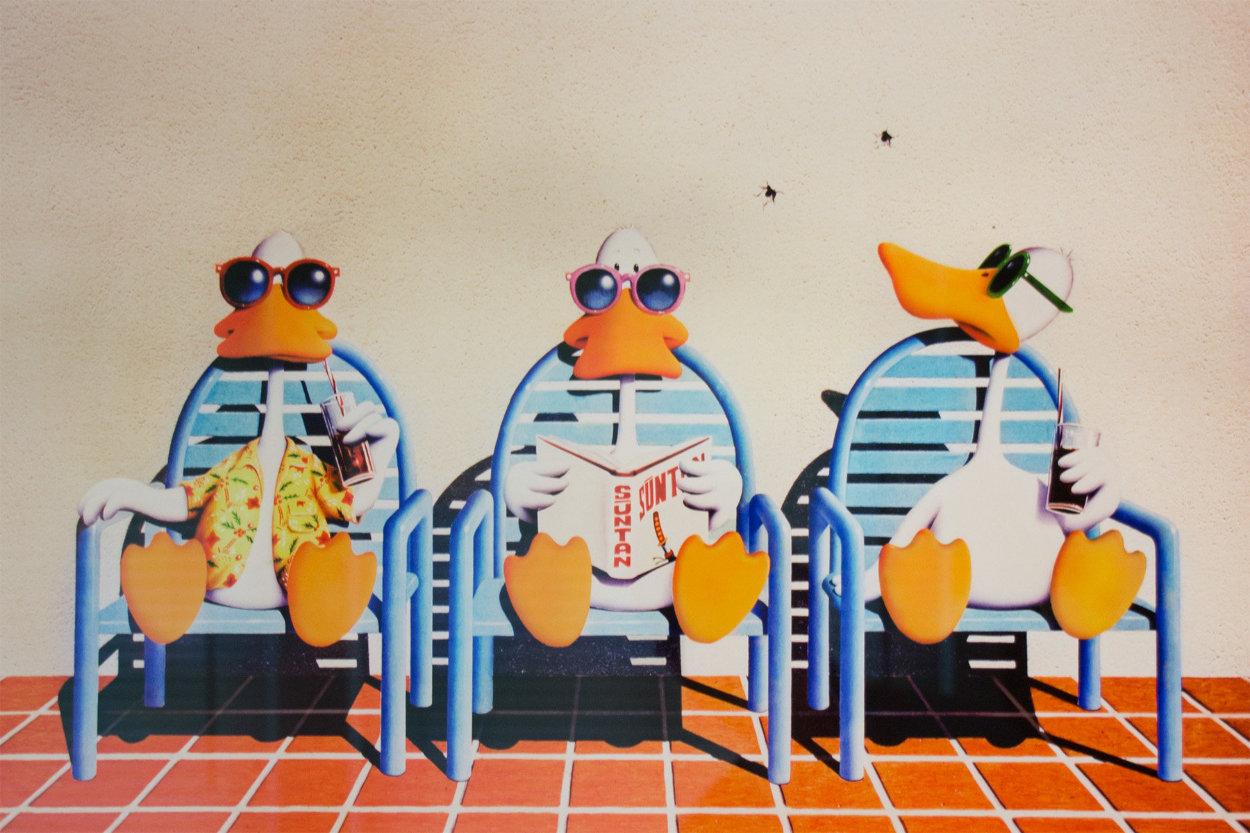 Sitting Ducks II Limited Edition Print by Michael Bedard