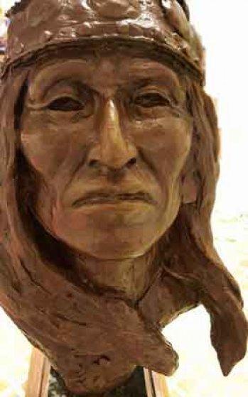 White Mountain Chief Bronze Sculpture 12 in Sculpture by Joe Beeler