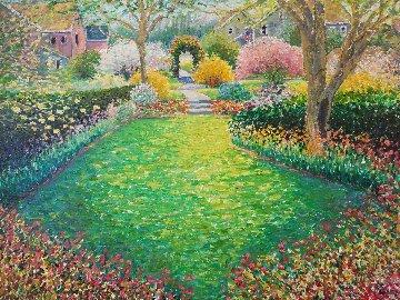 Springtime Perfume 2003 34x40 Huge Original Painting - Guy Begin