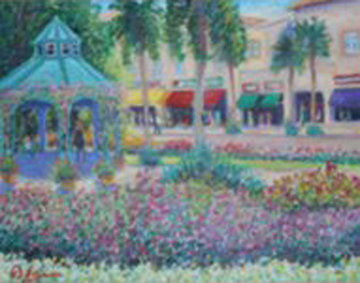 Mizner Park Perfume II  1999 20x24 Original Painting - Guy Begin