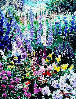 Symphonie D'été #614b 1993 24x21 Original Painting - Guy Begin