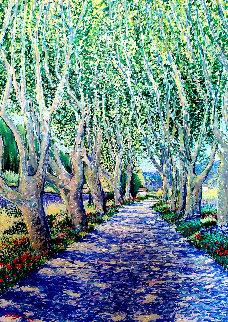 Parfum De Soleil Et De Lavande 1992 50x39 Original Painting by Guy Begin