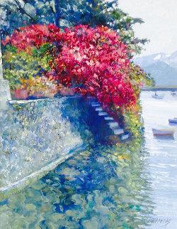 Lakeside Landing 2009 33x39 Huge Original Painting - Howard Behrens
