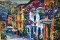 Alpine Village 2001 32x44 Original Painting - Howard Behrens