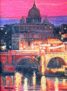 Sunset Over St. Peters 2010 Embellished Limited Edition Print by Howard Behrens