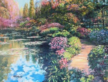 Giverny Path Embellished 2010 Limited Edition Print by Howard Behrens