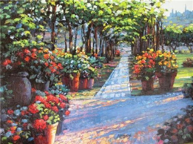 Siena Arbor Embellished 2010 Limited Edition Print by Howard Behrens