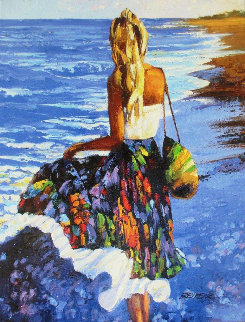 My Beloved By the Sea 2010 Embellished Limited Edition Print by Howard Behrens
