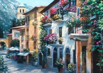 Village Hideaway Embellished 2010 Limited Edition Print - Howard Behrens