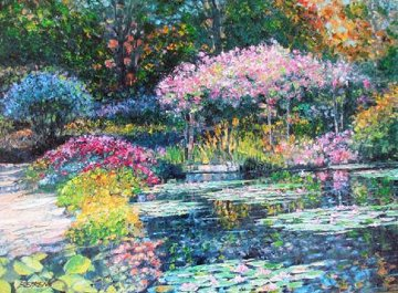 Giverny Lily Pond Embellished 2010 Limited Edition Print by Howard Behrens