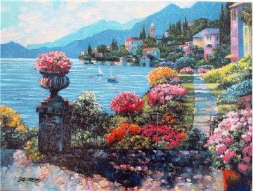 Varenna Morning Embellished 2010 Limited Edition Print - Howard Behrens