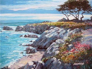 Monterey Bay After the Rain 2010 Embellished Limited Edition Print - Howard Behrens