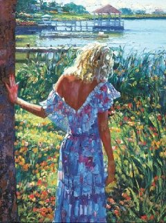 My Beloved by the Lake 2010 Heavily Embellished Limited Edition Print - Howard Behrens