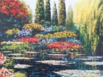 Shimmering Waters of Giverny Embellished 2010 Limited Edition Print by Howard Behrens