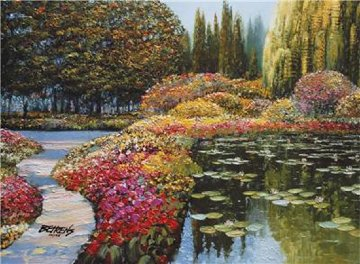Colors of Giverny Embellished 2010 Limited Edition Print by Howard Behrens