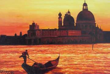 Sunset on the Grand Canal I 2008 43x31 Original Painting by Howard Behrens