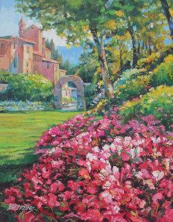 Villagio Vicino El Mare 2004 37x46 Original Painting by Howard Behrens