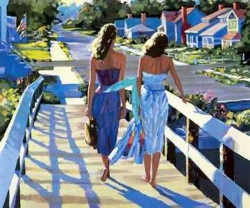 Bethany Beach 1987 Embellished Limited Edition Print - Howard Behrens