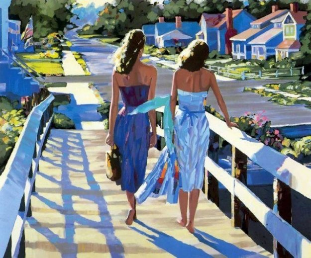 Bethany Beach 1987 Embellished Limited Edition Print by Howard Behrens