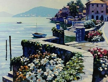 Il Lago Como 1991 Limited Edition Print - Howard Behrens