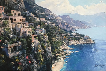 Amalfi Coast AP 2010 Embellished  Limited Edition Print by Howard Behrens