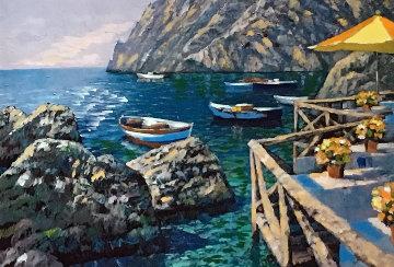 Cafe Capri AP Embellished 2003 Limited Edition Print - Howard Behrens
