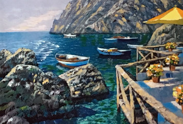 Cafe Capri AP Embellished 2003 Limited Edition Print by Howard Behrens