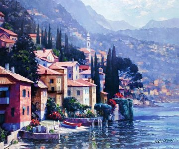 Impressions of Lake Como 2010 Embellished Limited Edition Print by Howard Behrens