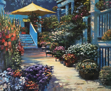Nantucket Flower Market 2003 Limited Edition Print by Howard Behrens