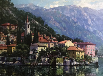 Reflections of Lake Como 2000 Limited Edition Print by Howard Behrens