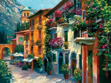 Village Hideaway 2001 Limited Edition Print by Howard Behrens