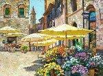 Sienna Flower Market 2001 Embellished Limited Edition Print - Howard Behrens