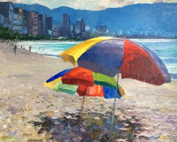 Acapulco Sands 37x43 Original Painting - Howard Behrens