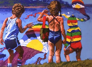 Kids N Kites 1982 Limited Edition Print - Howard Behrens