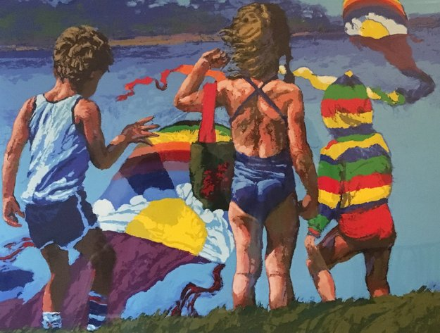 Kids 'N Kites 1982 Limited Edition Print - Howard Behrens