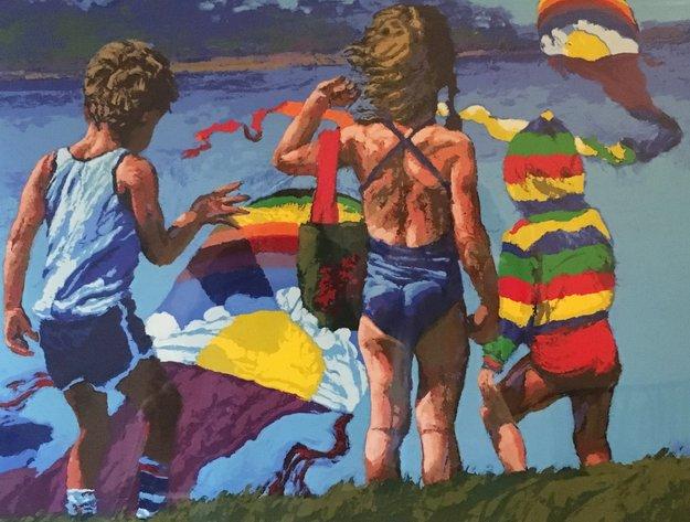 Kids 'N Kites 1982 Limited Edition Print - Howard Behrens