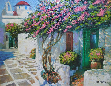 Memories of Mykonos Embellished 1998 Limited Edition Print by Howard Behrens